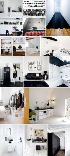 Black and white interior design inspiration. #bw #blackwhite #interior #design #style #black #white