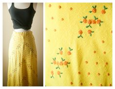 Vintage Yellow Floral MAXI Skirt by BlueHorizonVintage, $29.00 #bluehorizonvintage #festival #maxi #dress #skirt #boho #hippie #etsyvintage #vintageskirt #summerfashion #ditsy #floral