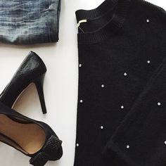 Rhinestone Sweater 100% Acrylic. No Trades. Gianni Bini Sweaters Crew & Scoop Necks