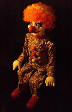 Ooak Clown Puppet Ventriloquist Doll by SpookyCuteAndMore on Etsy