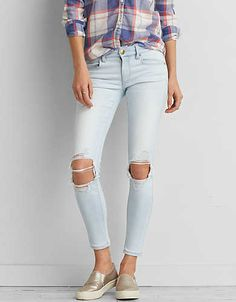 AEO Sateen X Jegging Ankle , Crystal Ice | American Eagle Outfitters