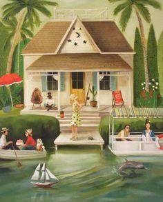 """June Everhart's Splendid Summer Home"" by Janet Hill (via Pickfair)."