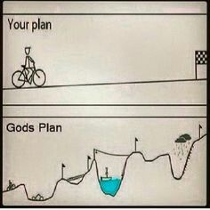 Our plan is flat lined inter words lacking life God's plan has spikes of high and low moments. There is life in it! Christian Memes, Christian Life, Bible Verses Quotes, Faith Quotes, Prayer Quotes, Wisdom Quotes, Quotes Quotes, Scriptures, Qoutes