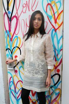 Pineapple IND - Women's Barong - Iris Z Maria Clara Dress Philippines, Philippines Dress, Philippines Culture, Barong Tagalog For Women, Modern Filipiniana Dress, Vine Design, Modest Wedding Dresses, Kurta Designs, Wedding Album