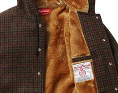 Supreme x Harris Tweed - Wool Hooded Coaches Jacket | Available ...