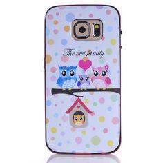 Mesh - Samsung Galaxy S6 Hoesje - Back Case Siliconen Uilen Familie | Shop4Hoesjes