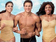 Hope Solo, Ryan Lochte and Serena Williams.