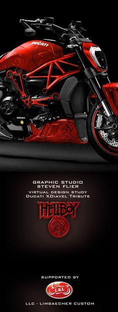 Grafik Atelier Steven Flier | XDiavel – LLC – Limbächer Custom