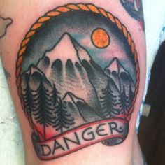 old.school mountains tattoo - Google Search