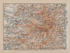 Adirondack Mountains - reprint of vintage map