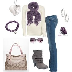 purple, created by #kristafliss on #polyvore. #fashion #style American Vintage True Religion