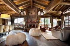 A delectable fairytale cottage in Courchevel 1850 France. Cabin Homes, Log Homes, Chalet Interior, Interior Design, Chalet Design, Chalet Style, Ski Chalet, Chalet Chic, Casas Country