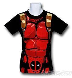 Deadpool T-shirt -  Black 30 Single Costume