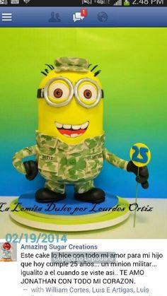 Military minion cake