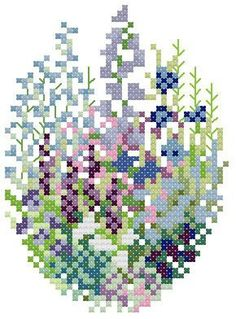 Gallery.ru / Фото #16 - Mary Hickmott Design - Vlada65 Cross Stitch Art, Cross Stitch Flowers, Cross Stitching, Cross Stitch Embroidery, Cross Stitch Patterns, Easter Cross, Hand Embroidery Designs, Needlepoint, Artwork