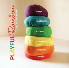Scented Play Dough... grape, blueberry,key lime, lemonade, tangerine, cherry....YUM!!