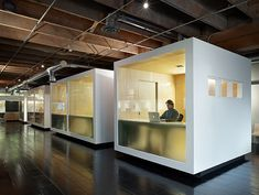 Managers: Here's a Primer for Creating the Perfect, Productive Office [Slideshow] – Cool Office Space Cool Office Space, Office Space Design, Workspace Design, Office Workspace, Office Interior Design, Office Cubicles, Warehouse Office Space, Office Dividers, Design Offices