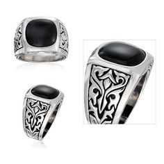 Men's Black Onyx Ring In Sterling Silver  $399.00 Retail Price  $99.00 Our Price  Only at nomorerack.com #deals