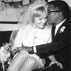 Sammy Davis Jr. and actress May Britt were married on this day in 1960, one of the first public celebrity interracial marriages