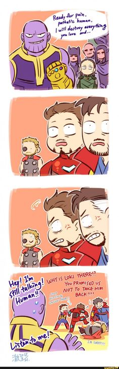 The Avengers don't know Thor freed Loki Marvel Jokes, Marvel Avengers, Marvel Comics, Heros Comics, Funny Marvel Memes, Dc Memes, Avengers Memes, Marvel Heroes, Funny Comics