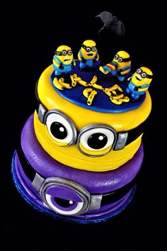 Despicable me cake made for my son.