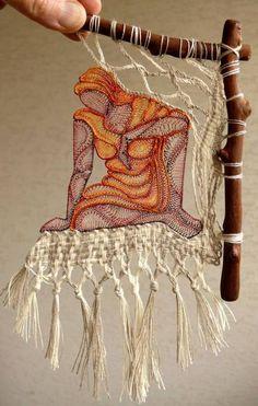 Macrame art=Textile art by Hungarian artist Agnes Herczeg