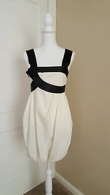 ROBERT RODRIGUEZ Black and Ivory Formal/Cocktail Dress Size 2