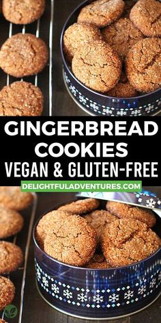 Easy, soft, and chewy vegan gluten free gingerbread cookies that are perfectly spiced and will make a welcome addition to your holiday baking. Add this recipe to your festive Christmas vegan gluten-free cookies list!