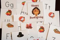 Free, Printable Thanksgiving Alphabet Game