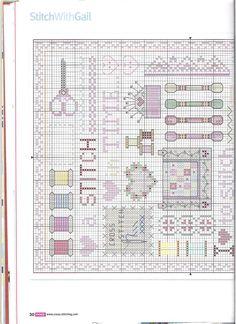 A stitch in time Cross Stitch Samplers, Cross Stitching, Crewel Embroidery, Cross Stitch Embroidery, Cross Stitch Designs, Cross Stitch Patterns, Sewing Stitches, Sewing Box, Needlework
