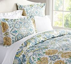 Cora Paisley Organic Duvet Cover traditional-duvet-covers