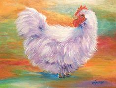 Violet, a lavender chicken.