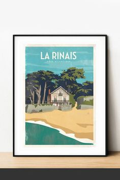 Affiche #LaBernerie - la Rinais Plage ©YohanGaborit Poster, The Beach, Event Posters, Billboard