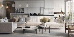 style asiatique et décoration de salon avec gris