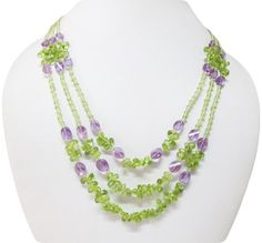 Peridot & Amethyst beads necklace,Beaded necklace,Jewellery,Mala beads,Gift ideas,Handmade necklace,Amethyst necklace,Peridot necklace,Beads