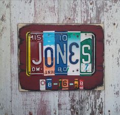 Hey, I found this really awesome Etsy listing at http://www.etsy.com/listing/111903629/license-plate-sign-art-funky-word-block