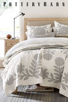 A detailed quilt at just the right weight and breathable linen sheets add color and texture to your bed. Home Decor Bedroom, Interior Design Living Room, Master Bedroom, Bedroom Ideas, Bedroom Boys, Teen Bedrooms, Diy Bedroom, Luxury Rooms, Couple Bedroom