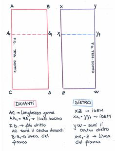 digitalizzato_20170110 Pattern Drafting, E Design, Line Chart, Sewing, Diy, Skirt, Handmade, High Fashion, Patterns