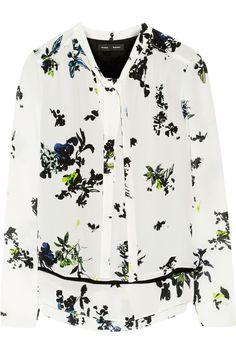 Proenza Schouler|Floral-print silk-georgette blouse|NET-A-PORTER.COM, $790