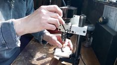 I've turned the Emco Unimat 3 mill-drill post into a standalone pillar drill with a wooden base, indexing system and table support. Precision Drilling, Homemade Tools, A Table, Drills, High Speed, Base, Simple, Tools, Drill