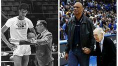 Ένα υπέροχο φωτογραφικό κολάζ ανέβασε στο Facebook, η ιστοσελίδα NBA All Day με τον Καρίμ Αμπντούλ Τζαμπάρ και τον προπονητή του, Τζον Γούντεν, από το φημισμένο UCLA, απ' όπου αποφοίτησε ο μετέπειτα θρυλικός σέντερ όλου του ΝΒΑ και πρώτος σκόρερ όλων των εποχών... Μια φωτογραφία, ή μάλλον μια σύνθεση, που δείχνει πολλά περισσότερα από δύο γνωστούς ανθρώπους του μπάσκετ. Δείχνει το δέσιμο μαθητή και δάσκαλου, παίκτη και προπονητή, τον σεβασμό, την αγάπη (προσέξτε πως κρατάει το χέρι ο...