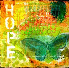 Hope  8x8 Mixed Media Art Print  Art Home by KathleenTennant, $20.00