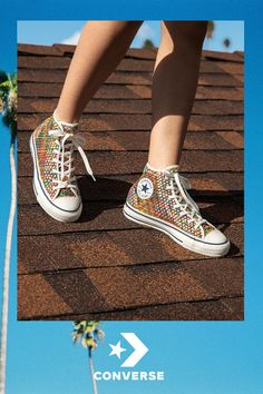 Breezy, Boho-Chic Style just in time for fun in the sun. Classic Chucks have been reimagined with a laidback open weave. They're lightweight, low maintenance and ready for adventure. Open Weave, Sneaker Boots, Hot Shoes, Shoe Collection, Swagg, Converse Shoes, Sneakers, Me Too Shoes, Boho Chic