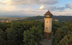 **Diana Lookout Tower (great view) - Karlovy Vary, Czech Republic Diana, Lookout Tower, Great View, Hot Springs, Czech Republic, Exterior Design, Big Ben, Trip Advisor, Castle