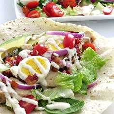 Cobb Salad Wrap Save Print Cobb Salad Wrap Recipe : Heres the best cobb salad recipe thats wrapped in a warmed flour tortilla for an easy meal idea youll love. Recipe type: Salad Ingredients 2 cups of Rotisserie chicken sliced 1 Recipes Using Rotisserie Chicken, Pecan Chicken Salads, Fish Salad, Cobb Salad, Mexican Salads, Beef Salad, Cooking Recipes, Healthy Recipes, Diabetic Recipes