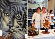 Airbrushing Chocolate at ICE's Center for Advanced Pastry Studies with Stephane Treand