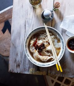 Wonton mee recipe   Gourmet Traveller recipe :: Gourmet ..Traveller..sub noodles for zucchini  and make pork and prawn ball and no oyster sauce