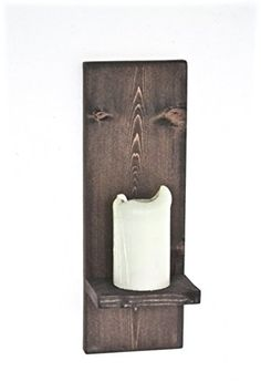 Rustic Wooden Wall Sconce Candle Holder Primitive Home Decor