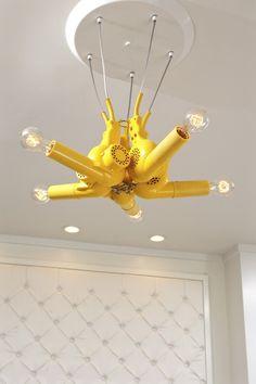 luminária de secadores.