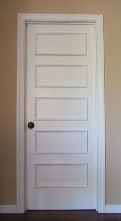 Five Panel Retro Door Moulding Kit~ Get the custom, high-end look in your home with Luxe Architectural…wow a kit on Etsy but I'm pretty sure I can go to lowes and get it even cut for less than $90 a door!